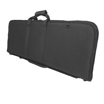 Vism 36'' Deluxe Rifle Case Mag Pouch Padded Soft Gun Case Black CVDRC2996B-36
