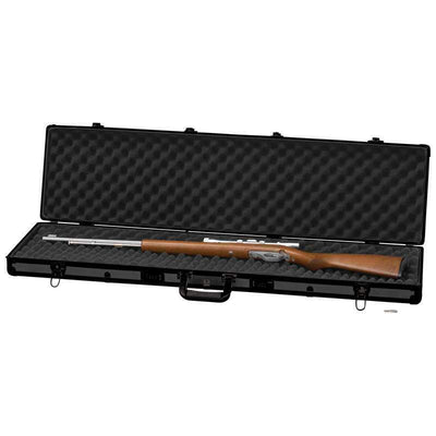Classic Safari Framed Long Aluminum Rifle Gun Case Combination Locks Black 44''