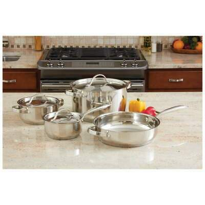 Ever Clad 7 piece Heavy Duty Stainless Steel Cookware Set Stockpot Pan Cooking