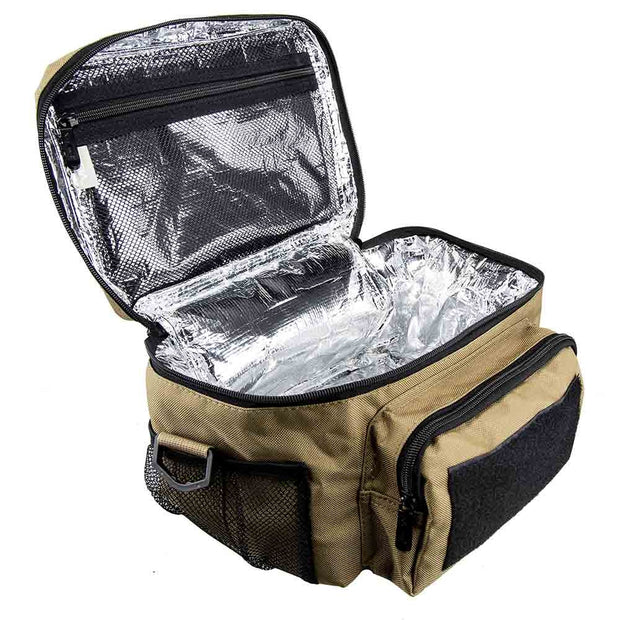 Small Lunch Bag - Insulated Cooler, Lunch Box with MOLLE / PALS Webbing by Vism