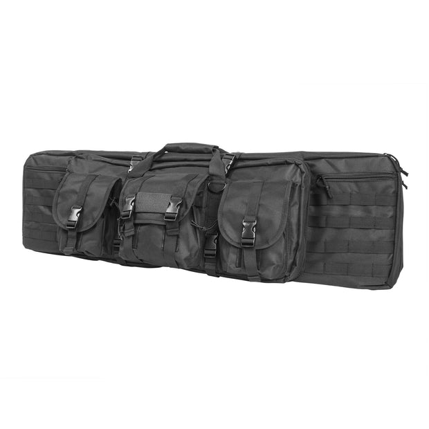 "VISM Tactical 36"" 42"" 46"" 55"" Padded Double Carbine Rifle Gun Case Bag + Gift"