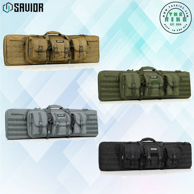 "36"" 42"" 46"" 55"" Tactical Double Bag Range Padded Soft Case Savior"