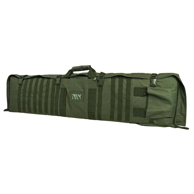 VISM 48'' Tactical Rifle Case Shoulder Backpack Shooting Mat Molle OD Green