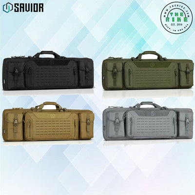 Double Rifle Soft Case Long Carbine Padded Carry Drag Bag Savior