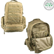 VISM Tactical Backpack 1100 Denier Nylon 3 Day Travel Hiking Tan CB3D3013T