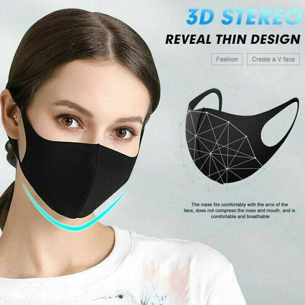 Face Mask 3 Pack Cloth Breathable Antibacterial Washable Reusable Face Cover Motorcycle Bandana Water Repellent Pink & GIFT