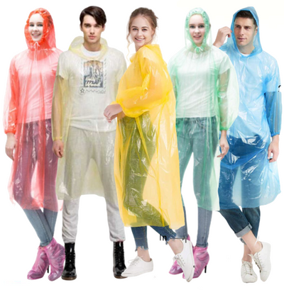 Disposable Emergency Rain Coat Poncho Protective Isolation Plastic Antibacterial Dust Rain