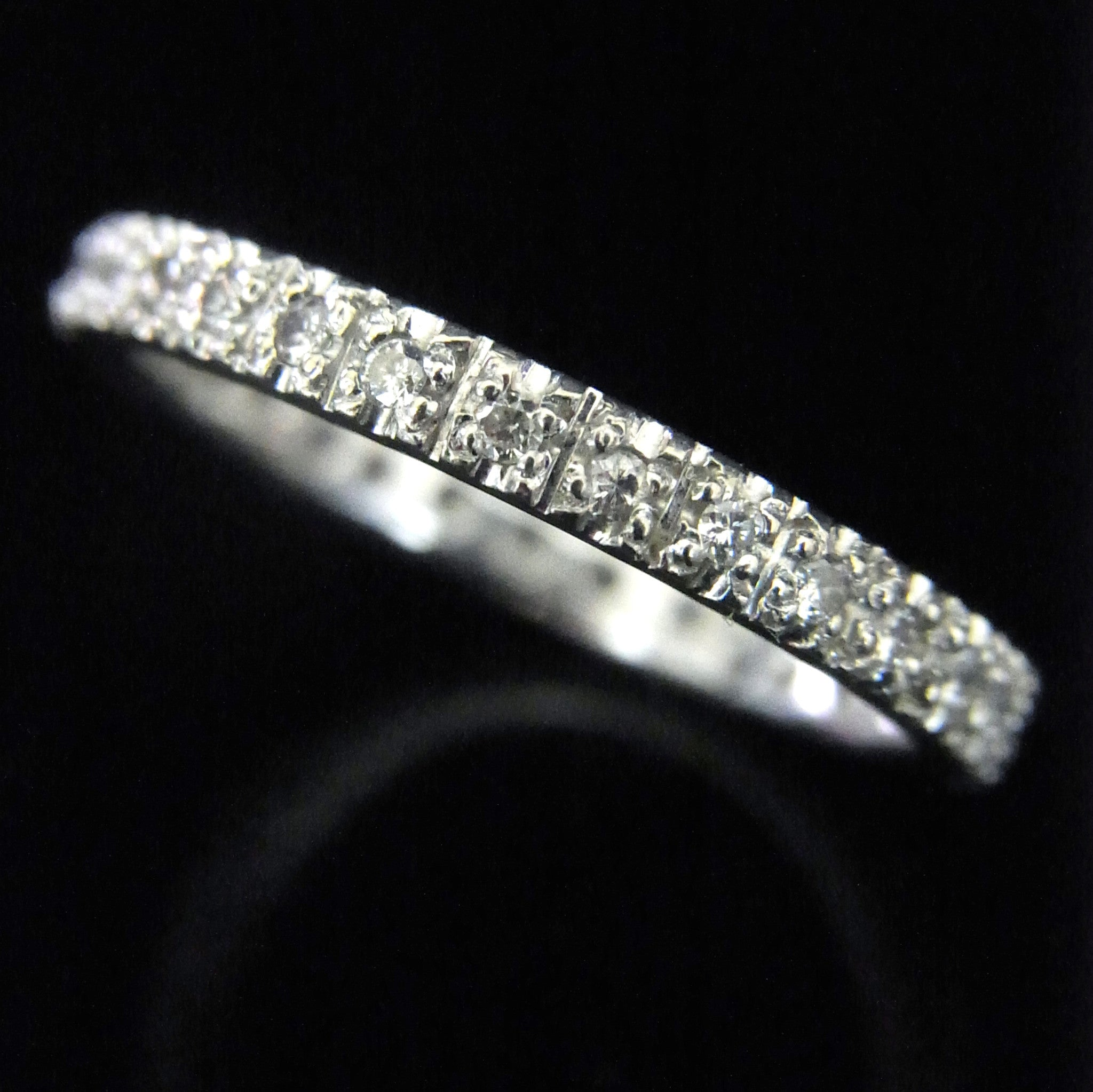 setting diamond ring thin all french yellow around bands wedding furst eternity products diamonds france with band white a gold