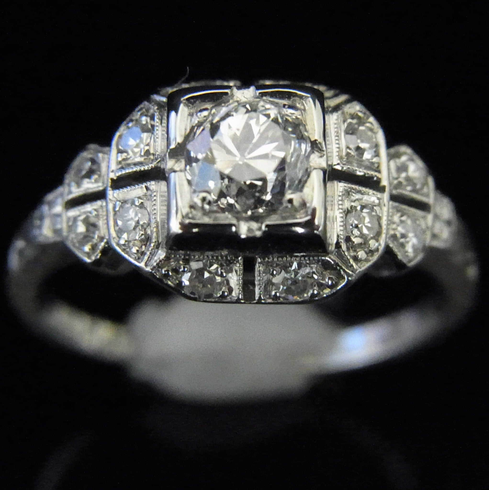 engagement princess ring three sided platinum design pave b michael rings designers s style