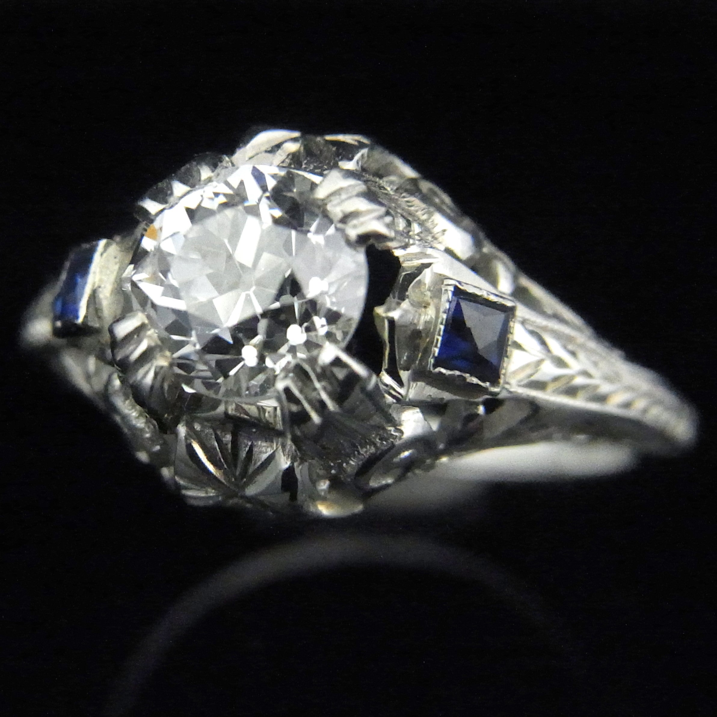 deco carat platinum antique euro ring eragem diamond engagement old rings art vintage