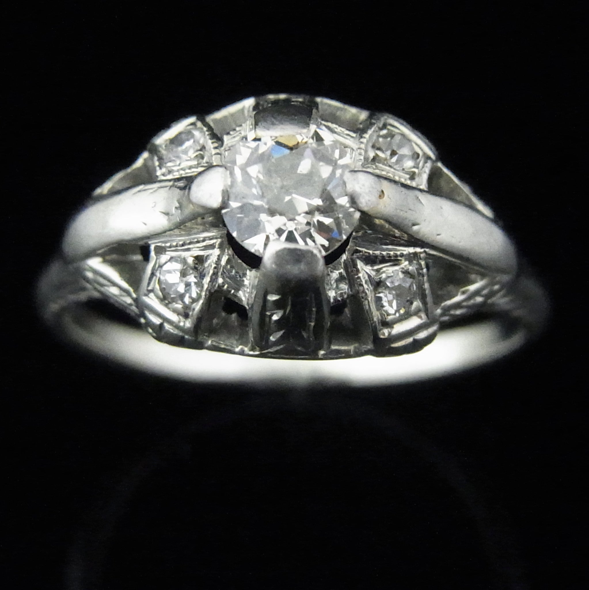 diamond deco engagement viennese ring old art style authentic rings product cut tv european