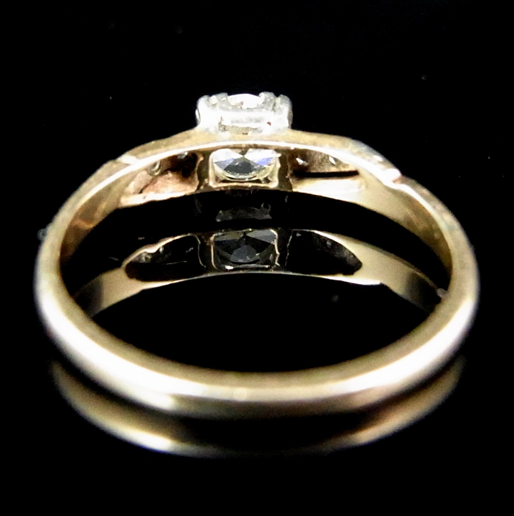14ct gold fancy yellow diamond ring with fancy halo setting 1 00