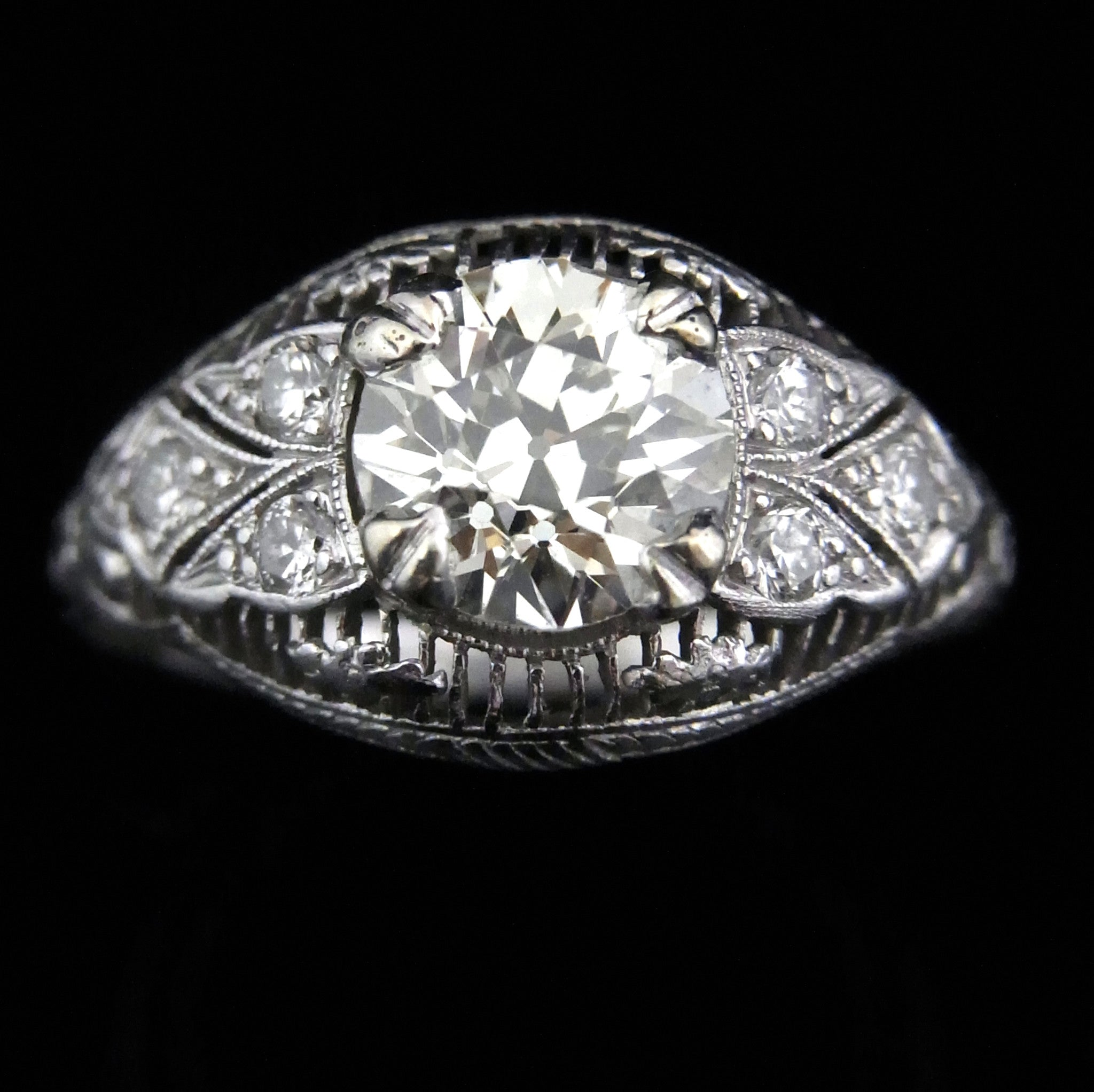 white et scintillation antique products gold ring diamond art moi deco tdw toi