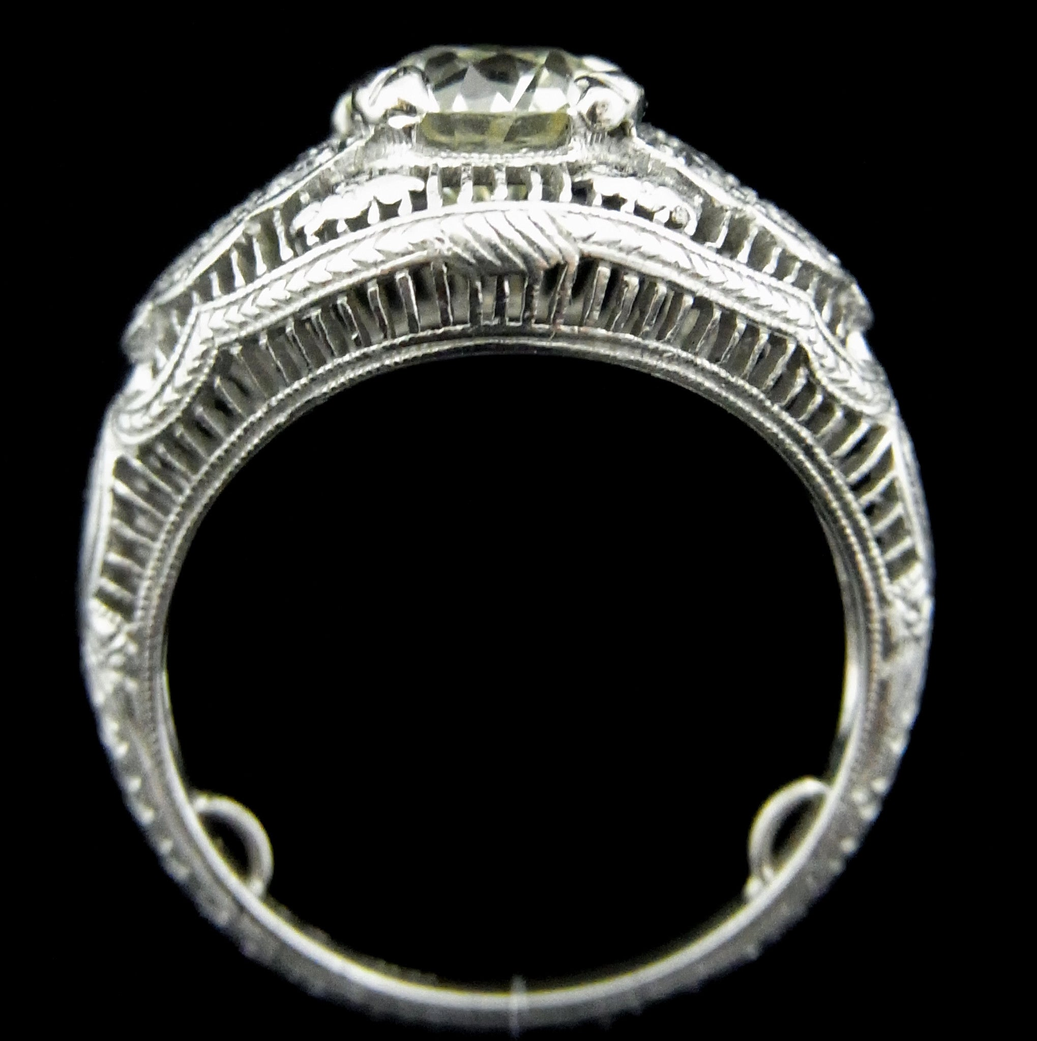 european antiq certified diamond ring circa old engagement art cut deco euro faint platinum products fluorescence edwardian
