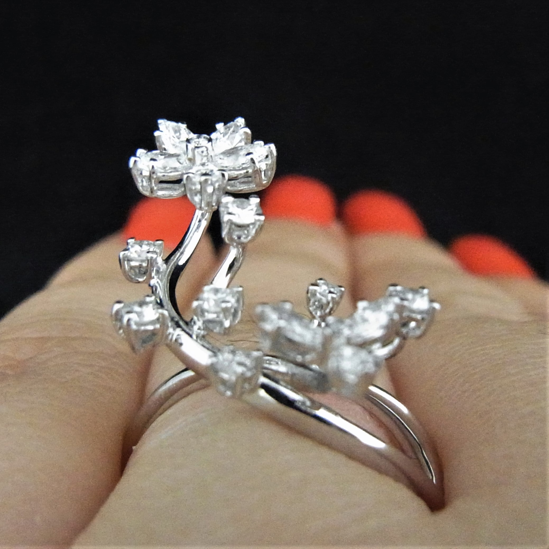 leaf rings fullxfull engagement listing ring set zoom gold il twig branch