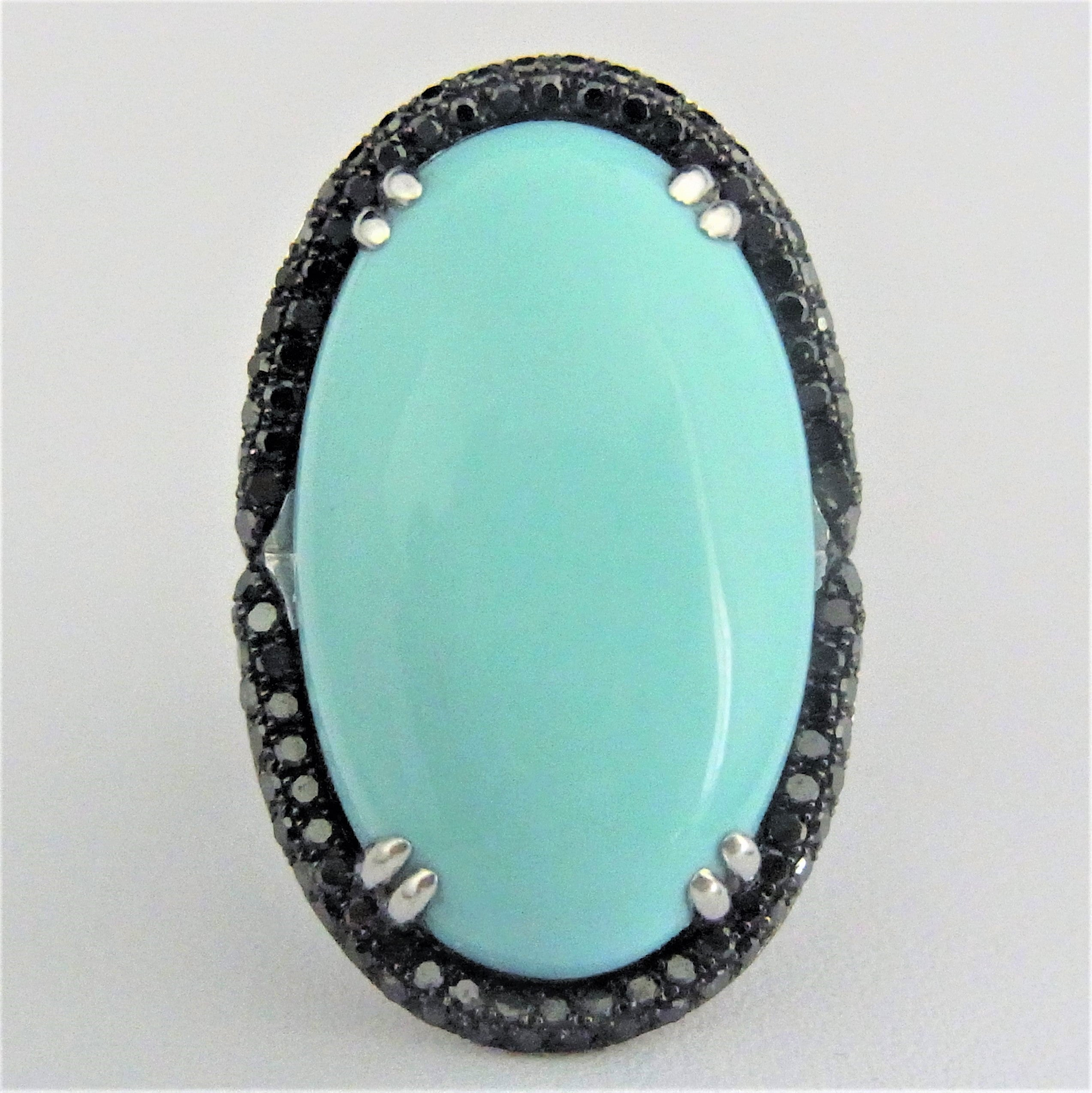 erie ring cocktail diamond turquoise basin