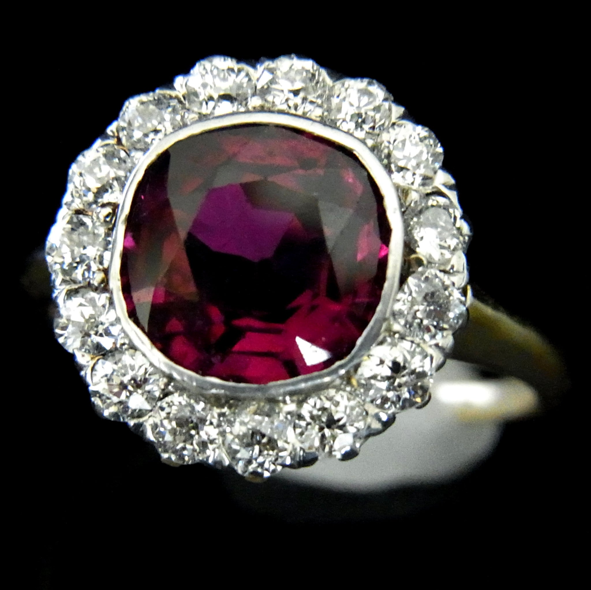 natural ring burmese cocktail j diamond ruby cluster jewelry platinum rings z org at engagement id non heated for sale