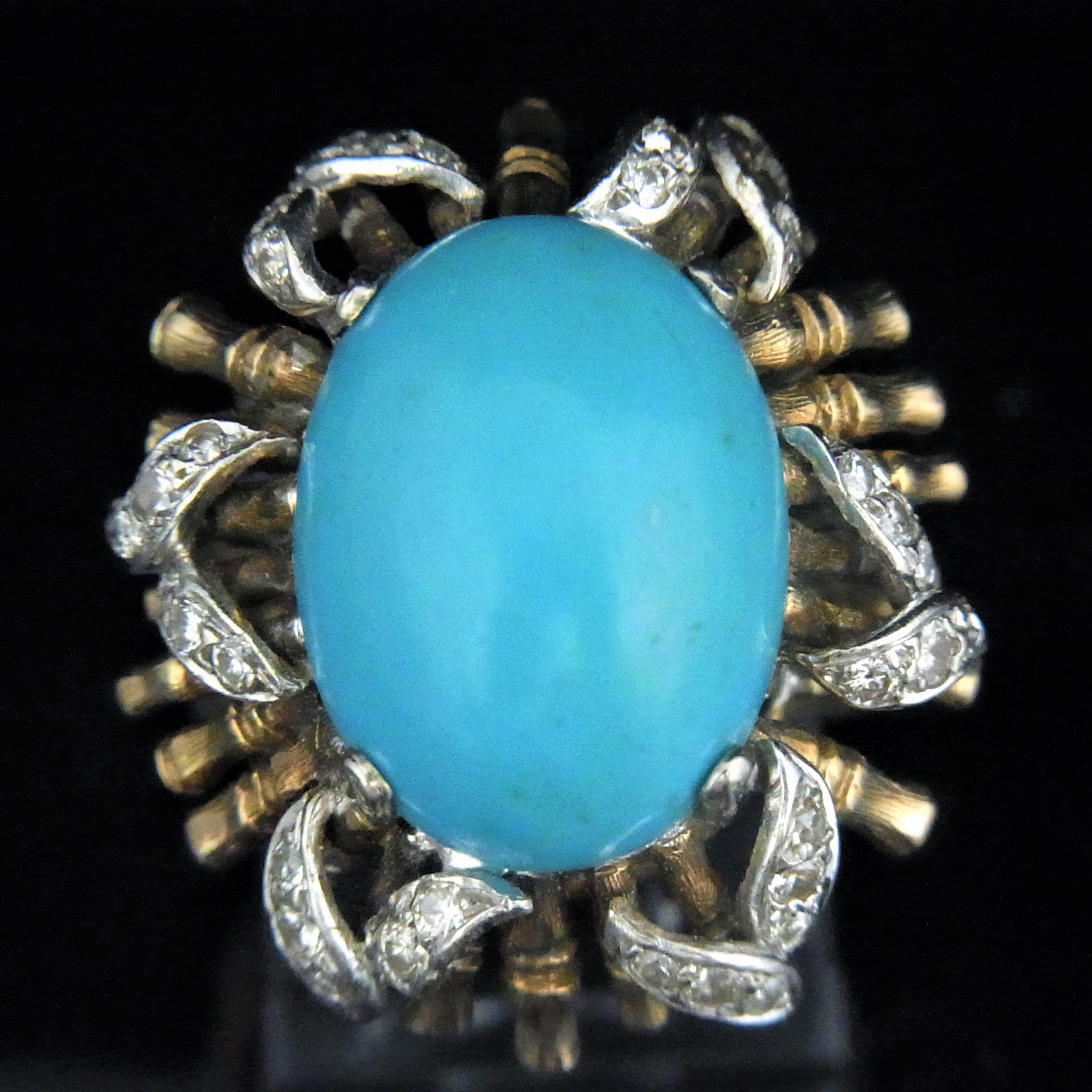 and diamond turquoise today ring free black gold jewelry silver hills product watches shipping overstock