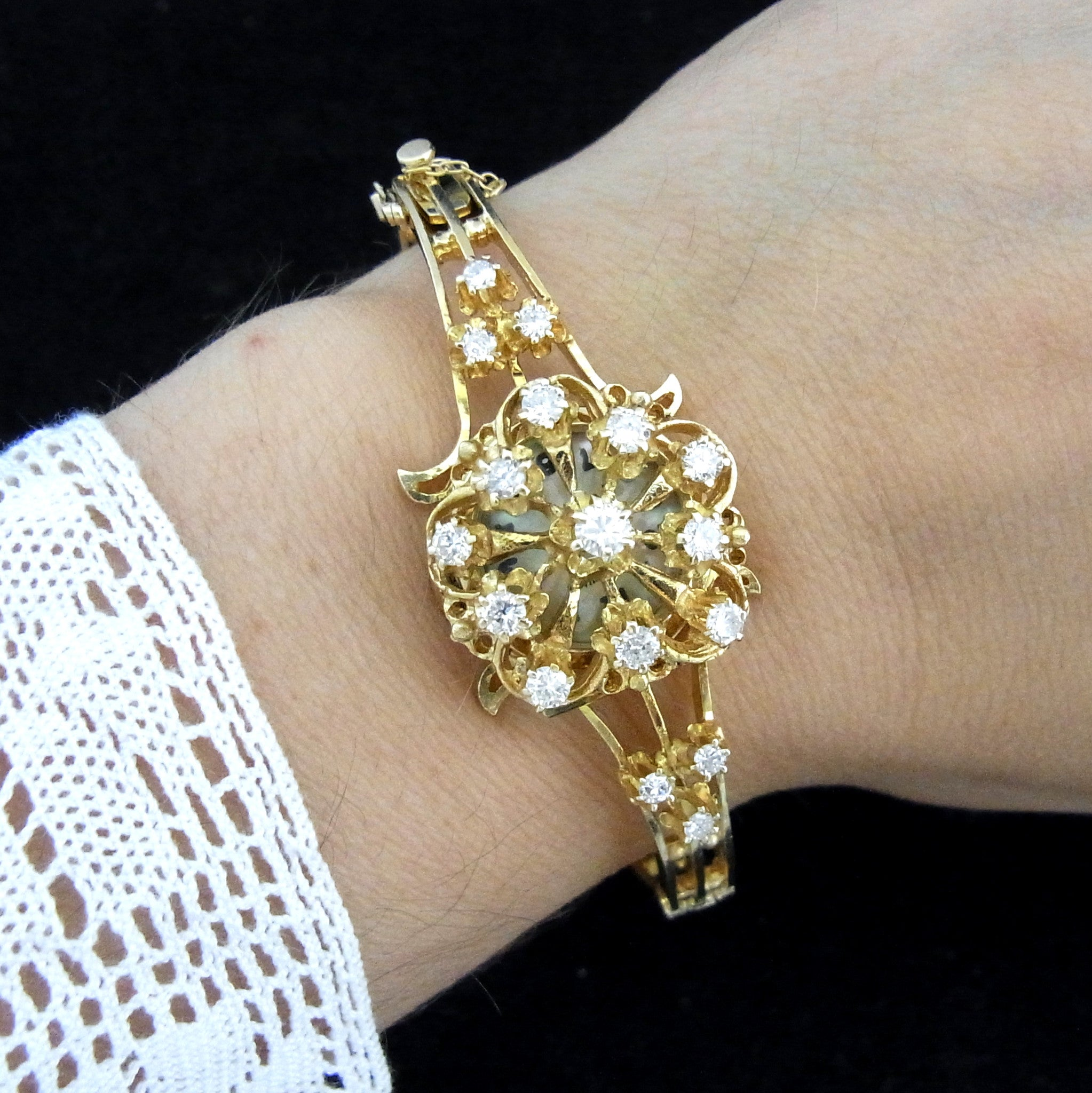 art bracelet shop products gold nouveau diamond