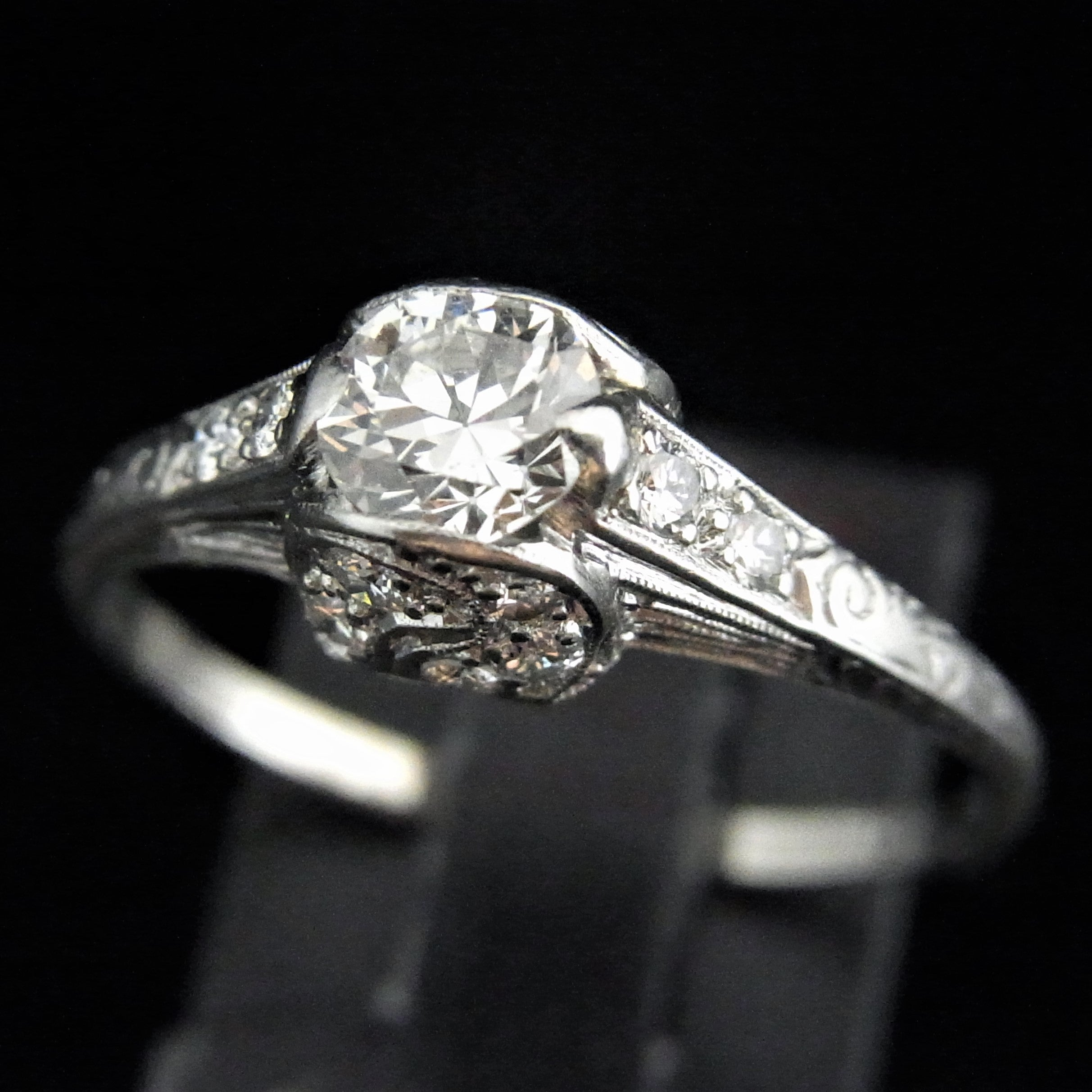 solitaire claw four platinum mounted diamond rings ring engagement