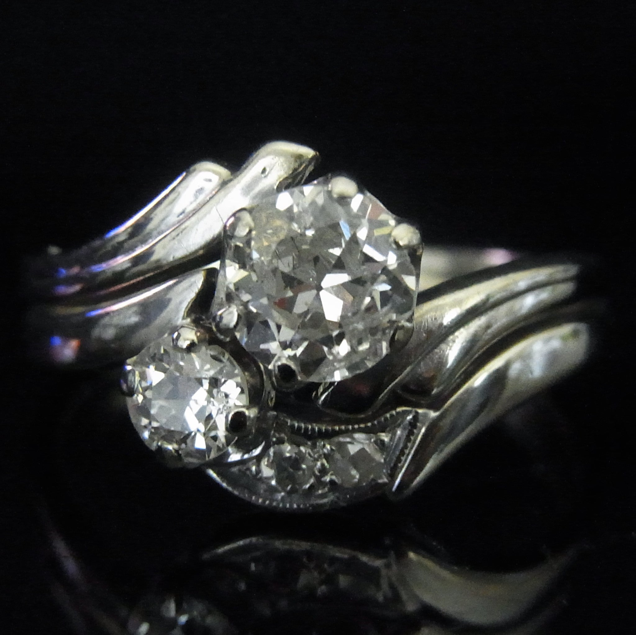 engagement products art scintillation antiq cut diamond certified old ring platinum euro edwardian european deco circa
