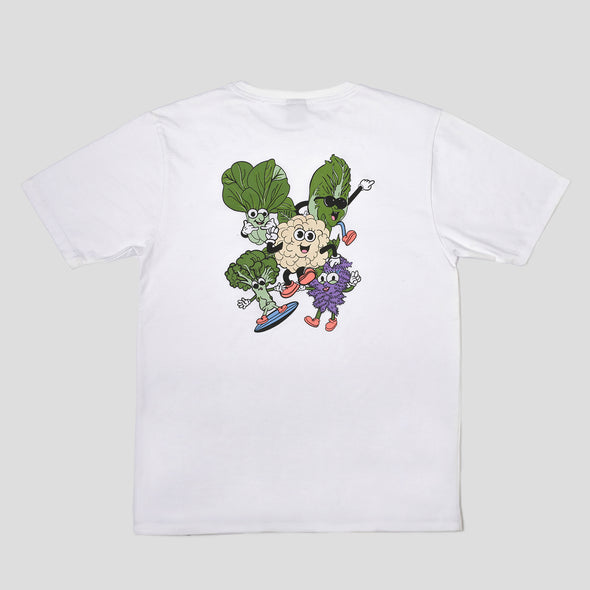 Groovy Greens Pocket Tee - White