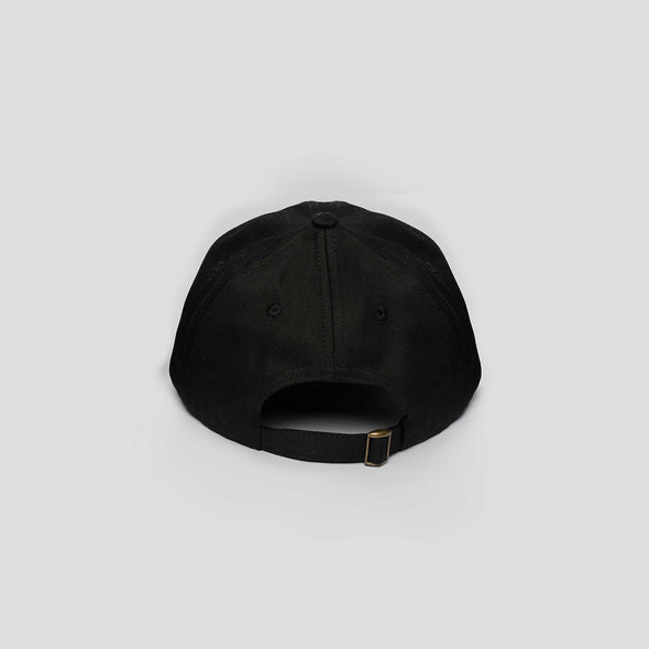 Circular Black Unstructured Cap