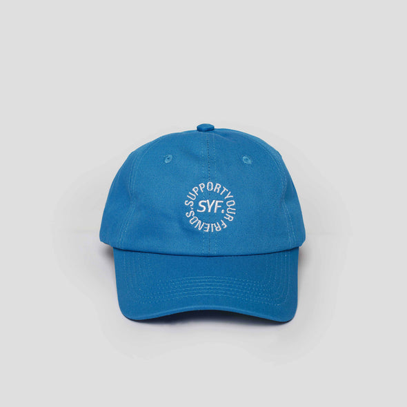Circular Blue Unstructured Cap