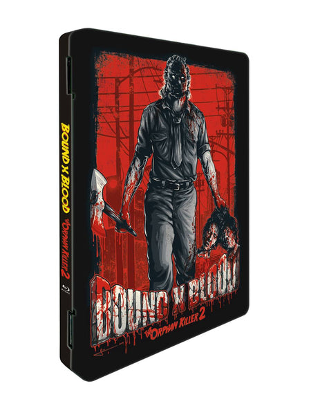"The Orphan Killer 2 ""Bound X Blood"" Steelcase DVD + BLURAY (Red Cover)"