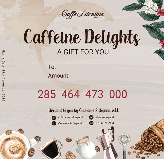Gift Card- Caffeine Delights