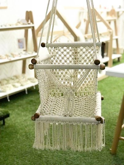 Crochet Wooden Swing
