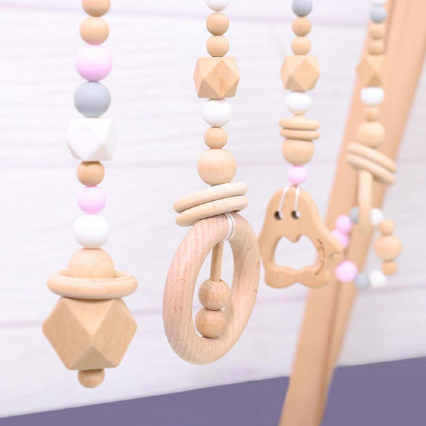 Teether Wooden Luxury Baby Gym