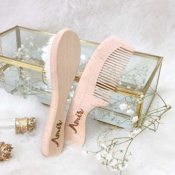 Customized Wooden Brush & Comb