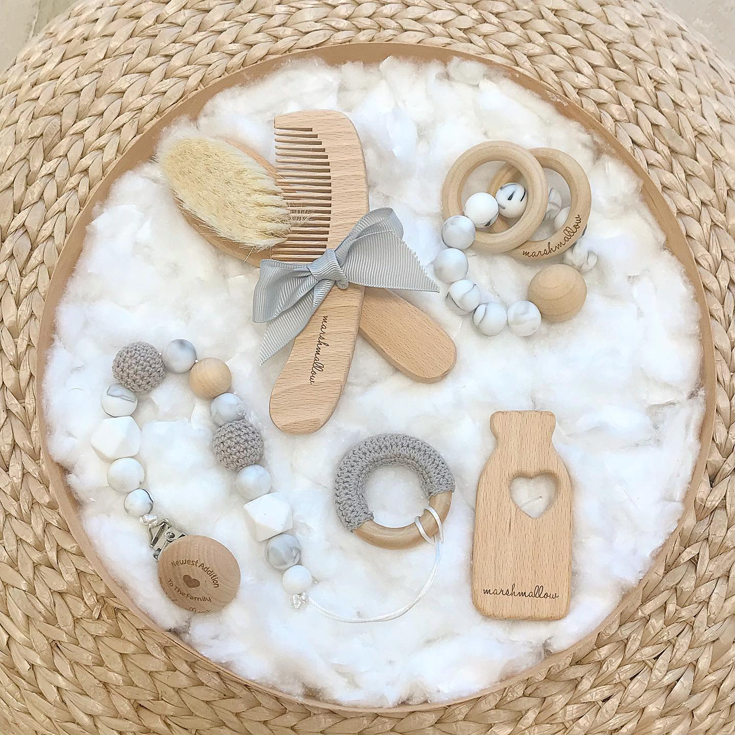 Baby Essentials Bundle - Gray