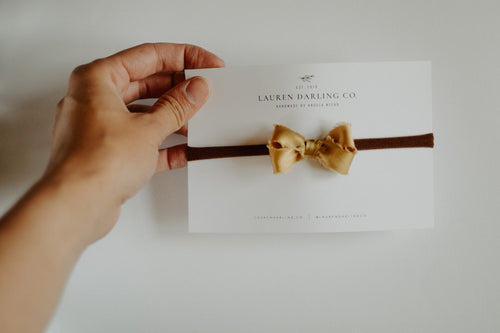 The Petite Silk Bow | Golden