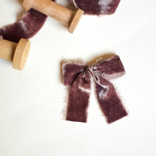 Load image into Gallery viewer, Hand-dyed Silk Velvet | Plum