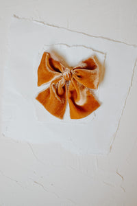 Hand-dyed Silk Velvet in Pumpkin | Oversized