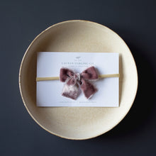 Load image into Gallery viewer, Hand-dyed Silk Velvet | Petite Headband Bow