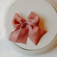 Load image into Gallery viewer, The Oversized Silk Bow | Cranberry