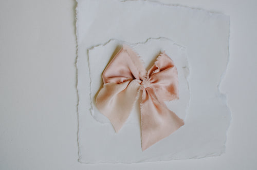 The French Silk Bow | Blush | Oversized