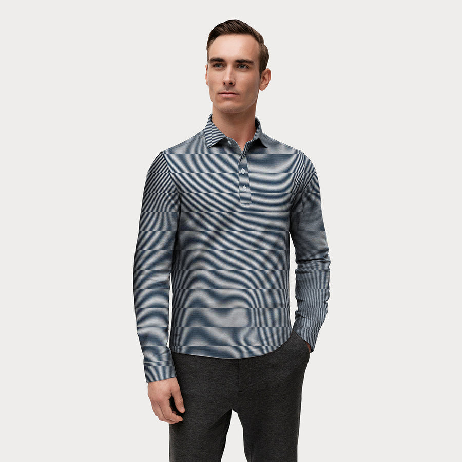 LONG SLEEVE NATURAL PERFORMANCE KNIT POLO SHIRT