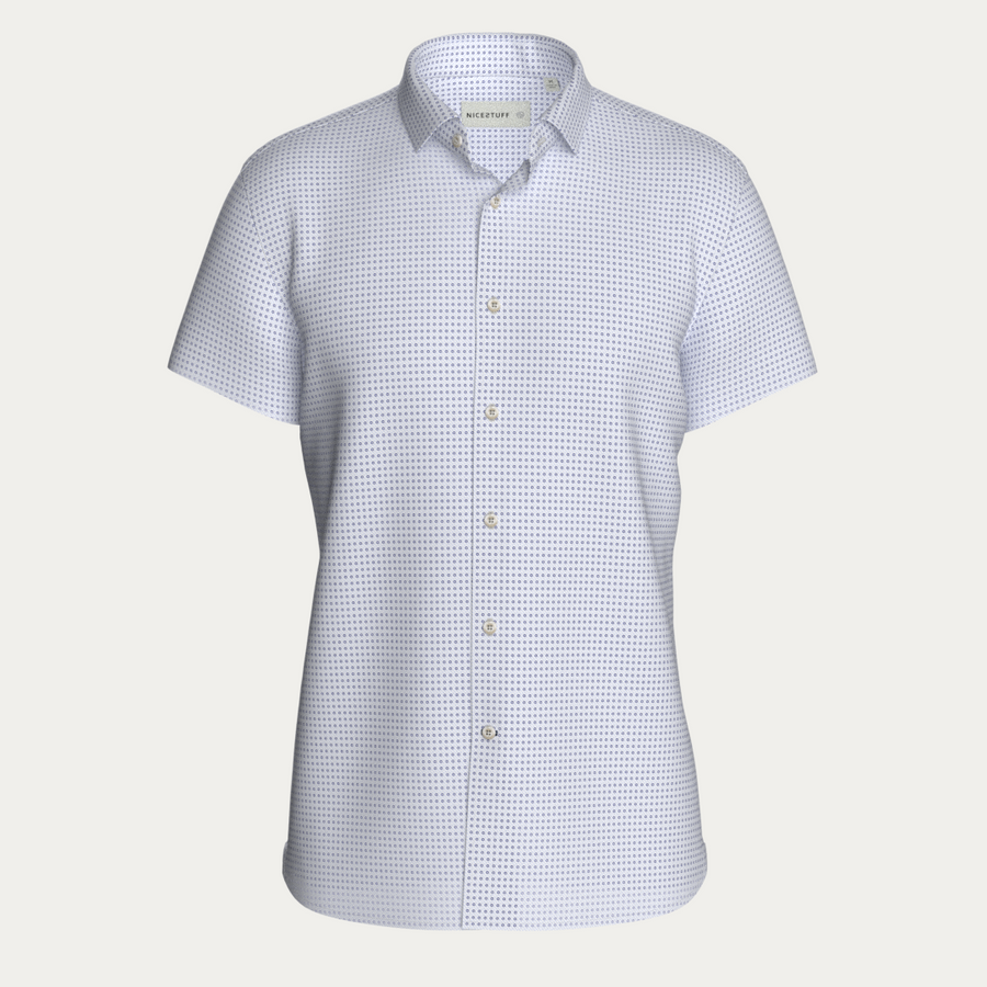 SHORT SLEEVE NATURAL PERFORMANCE KNIT BUTTON DOWN SHIRT
