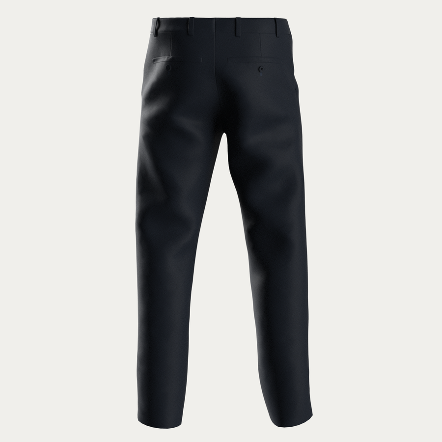 COTTON BLEND NATURAL PERFORMANCE KNIT STRETCH PANT - Navy