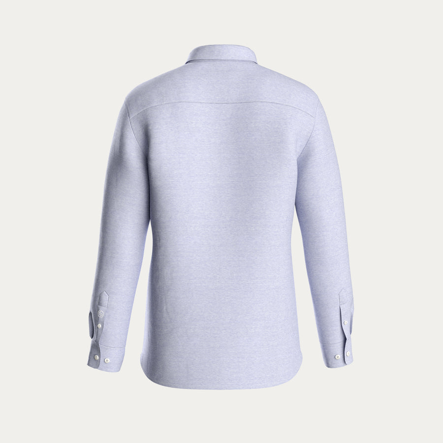 LONG SLEEVE KNIT STRETCH SHIRT - LIGHT BLUE
