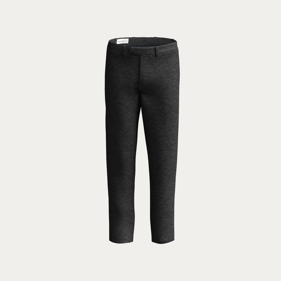 NATURAL PERFORMANCE KNIT STRETCH PANT - Charcoal Heather
