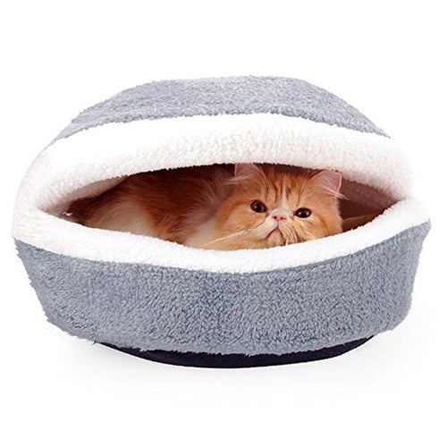 Hamburger Design Pet Cama en forma de gato Sleeping Bag (Gris)