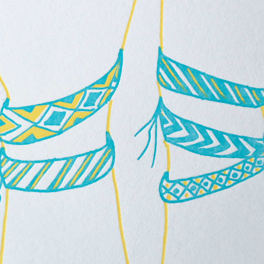 Friendship Bracelet Birthday Card