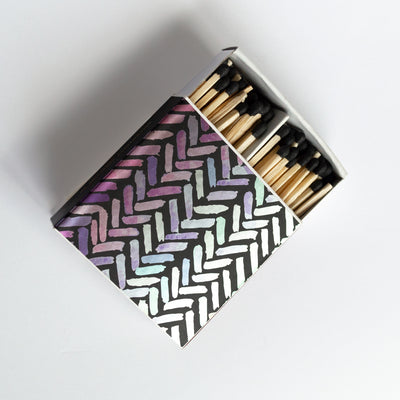 Metallic Brush Strokes - Square Matchbox