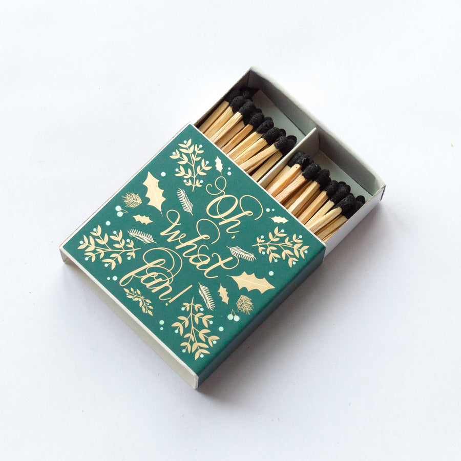 Oh What Fun! - Square Matchbox