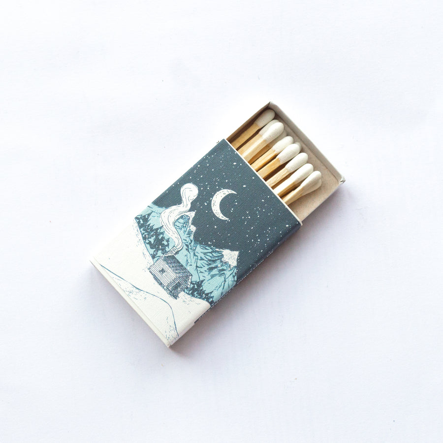 Snow Capped Mountains - Small Matchbox